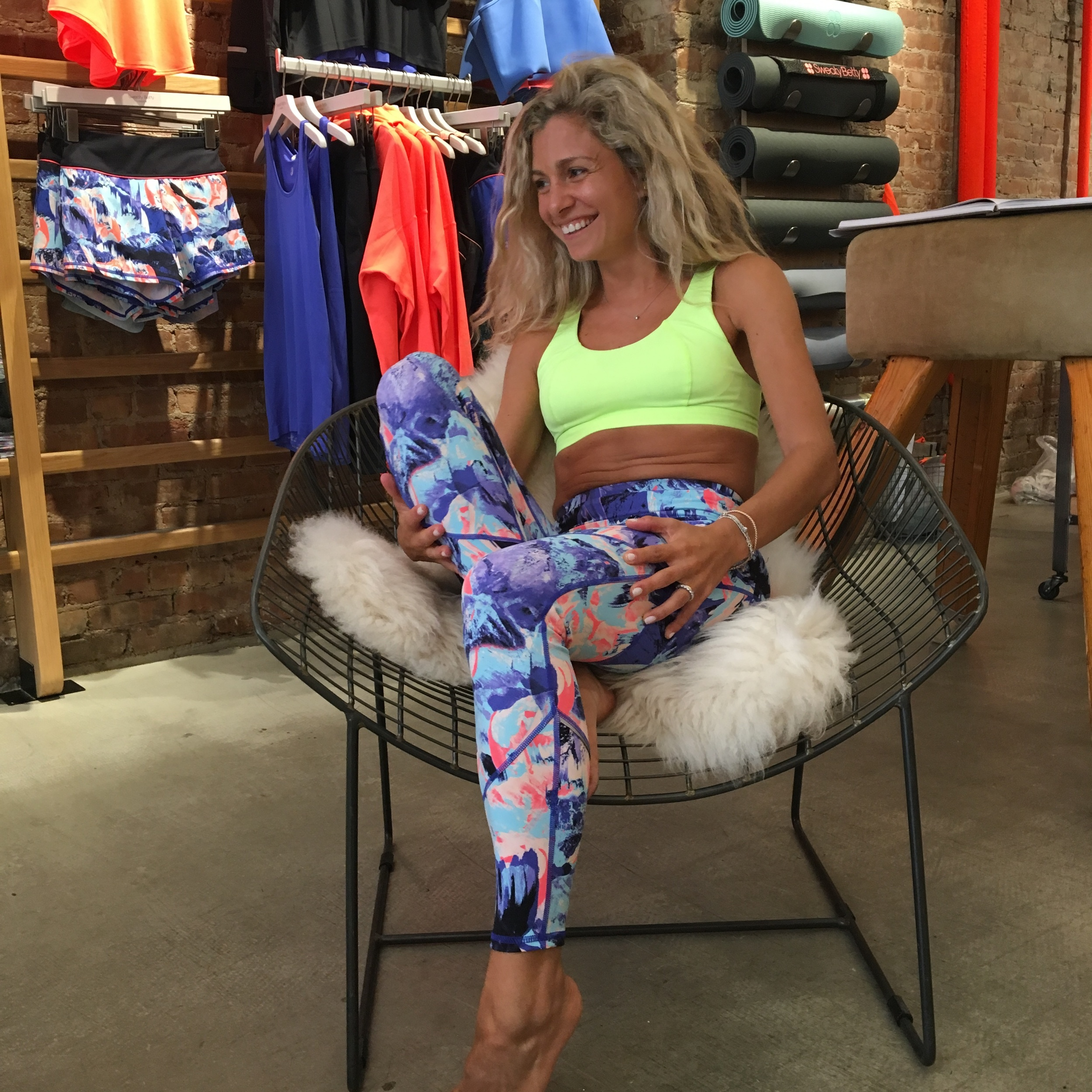 An exclusive sneak peek to the sports bra and leggings you'll be receiving from Sweaty Betty.