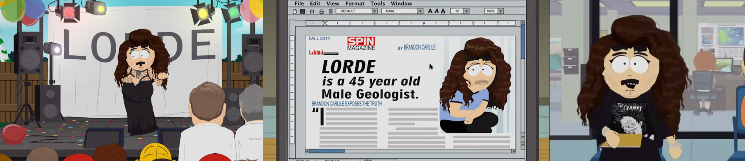 Lorde on South Park