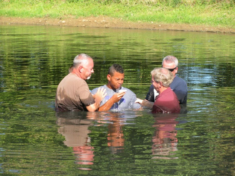 Baptized by Water & the Spirit (Trammel Pond) - Jul 2012