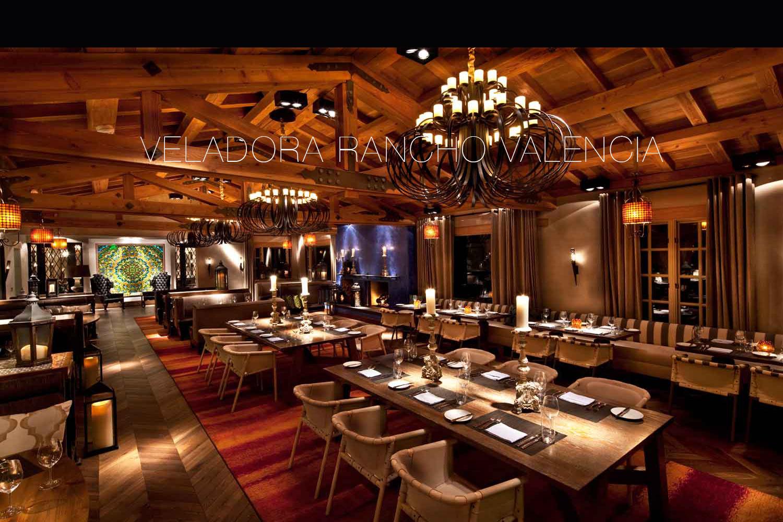 Veladora Rancho Valencia restaurant by Mister Important Design