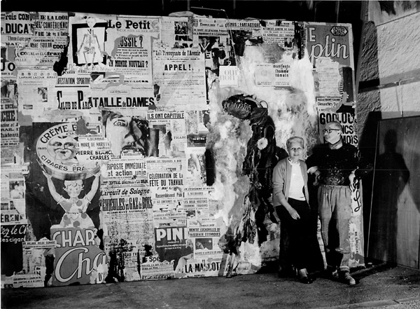 Lorjou with Yvonne Mottet during his Moulin Rouge exhibit