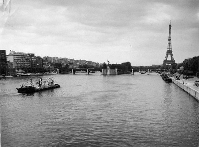 Floating exhibition on the Seine River    Seine River   Paris, France    1962