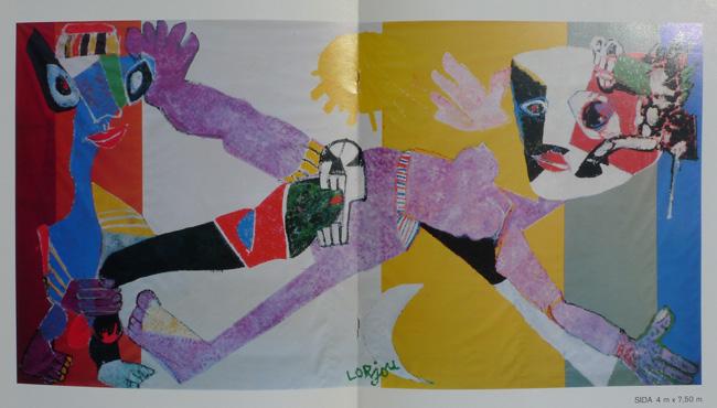 Lorjou Rock AIDS Tarps (Lorjou, Rock, Sida)    Galerie Epsilon   Paris, France    September 12, 1985 - January 27, 1986