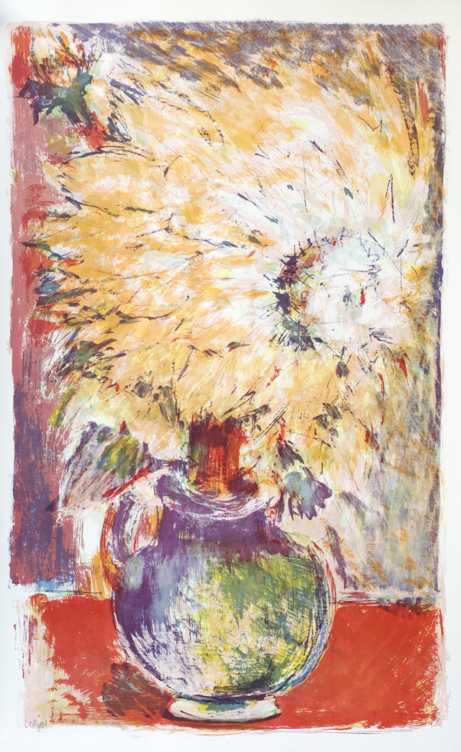 Dahlia in the Violet Pot (Dahlia au Pot Violet) (1959)