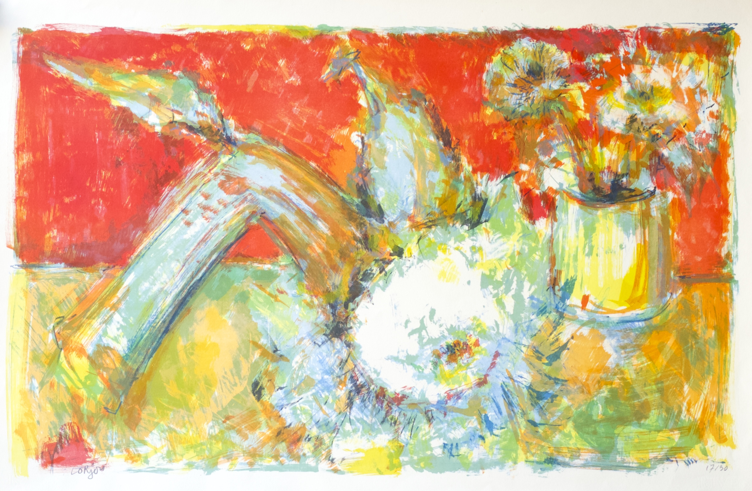 Still Life with Sunflower (Nature Morte au Tournesol) (1959)