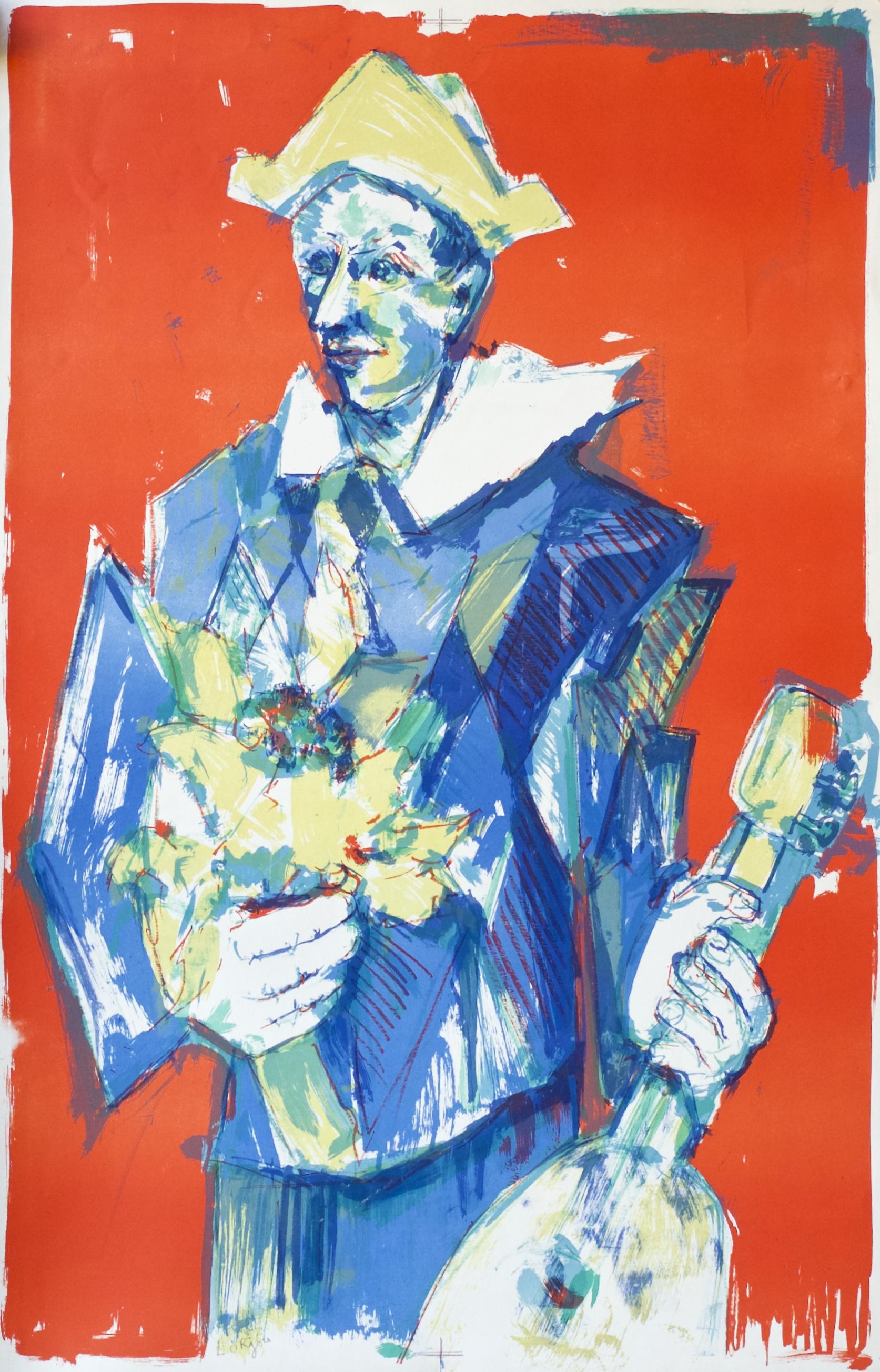 Harlequin, Guitar and Flower (Arlequin, Guitare et Fleur) (1959)