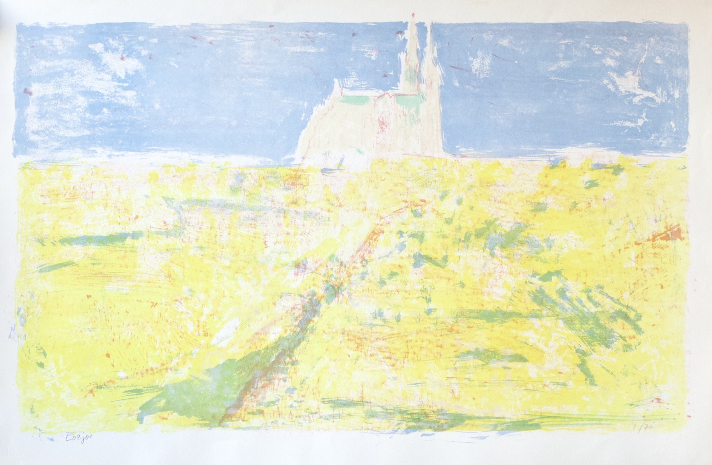 Chartres in the Yellow Fields (Chartres Champs Jaune) (c.1959-60)