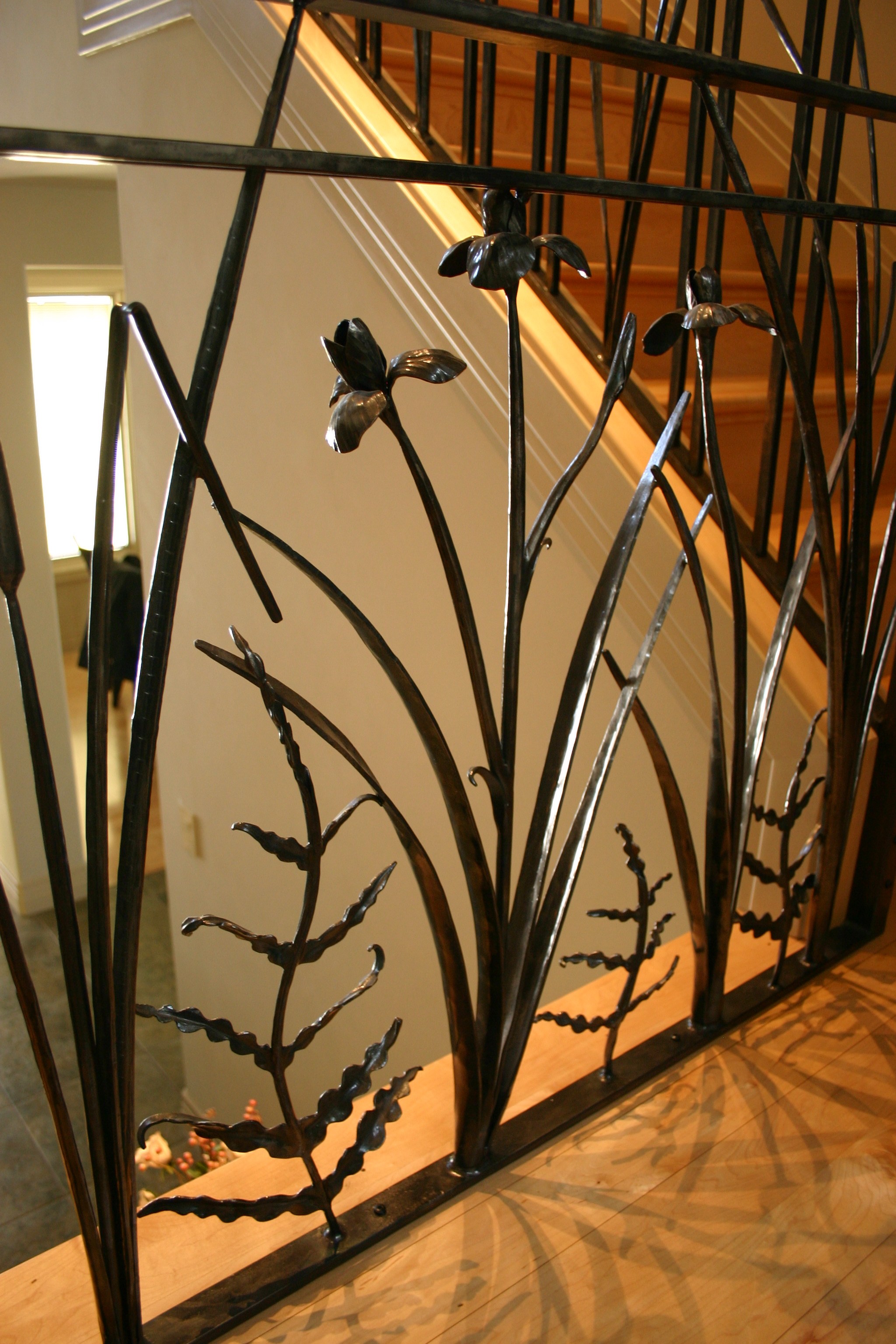 Organic Craftsman style railing. Private Residence, Rives Junction Mi.
