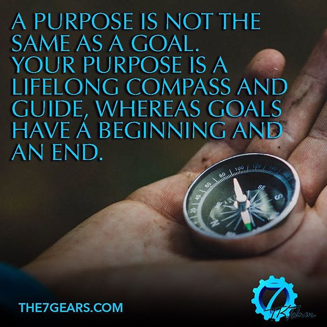 A purpose is not the same as a goal. Your purpose is a lifelong compass and guide, whereas goals have a beginning and an end. . Like if you agree! . #motivation #inspiration #success #quotes #life #determination #dedication #strength #motivationalquotes #hustle #quote #quoteoftheday #instagood #qotd #lifequotes #quotestoliveby #goodreads #bookstagram #books #bookworm #booklover #reading #igreads #book #entrepreneur #goals #business #causeandeffect #the7gears #positivity