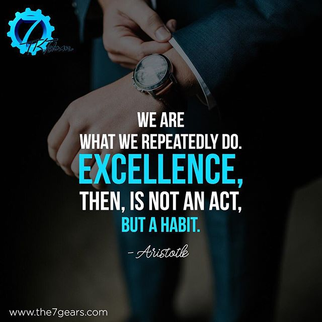 We are what we repeatedly do, so what doest that make you?  Get tips and insights into living a more purposeful life - download The 7 Gears Between Cause & Effect e-book today! Only $5.38 on Amazon.com #successquotes #aristotlequotes