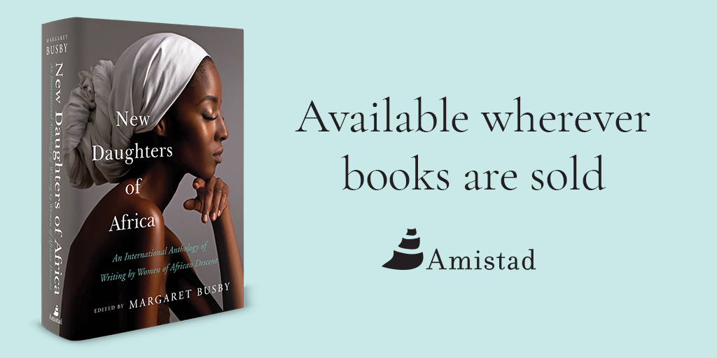 """Want to read Sandra's latest? You can find """"Boahema Laughed"""" in  New Daughters of Africa  Anthology. To buy this book, visit: https://www.harpercollins.com/9780062912985/new-daughters-of-africa/"""