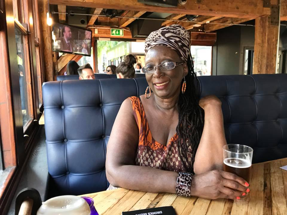Sandra Jackson Opoku while in London for the Africa Writes Festival.