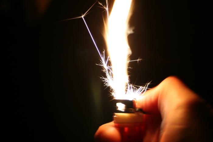 Lighter Close-up Spark