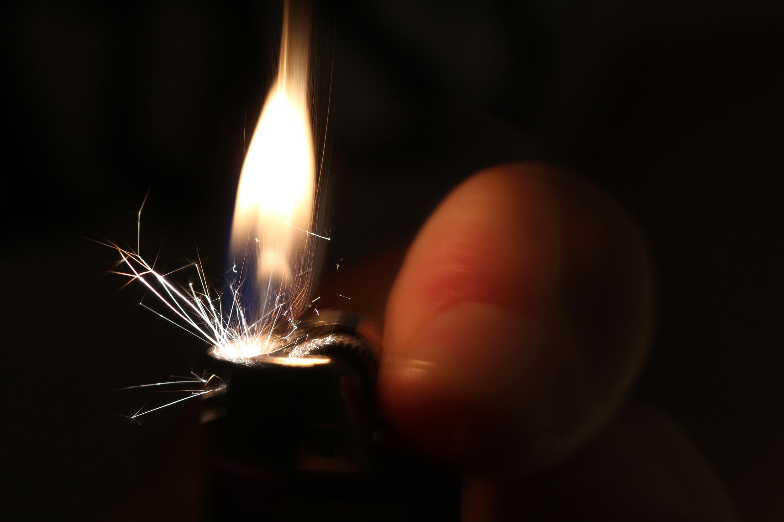 Lighter Spark Lit