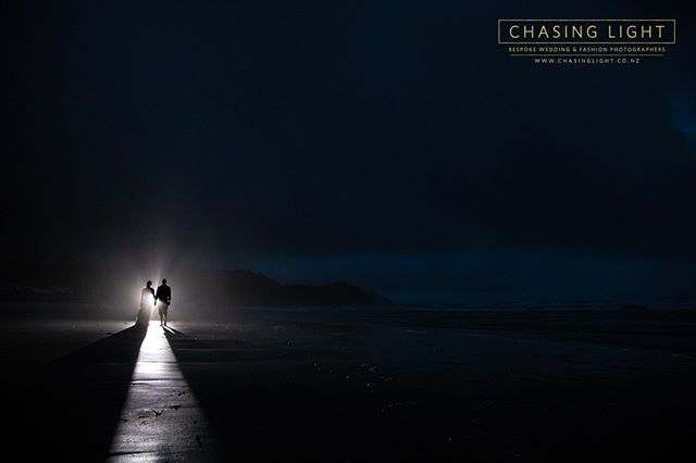 A private beach, after hours. © Chasing Light 2019. New Zealand Boutique Wedding Photographers  www.chasinglight.co.nz