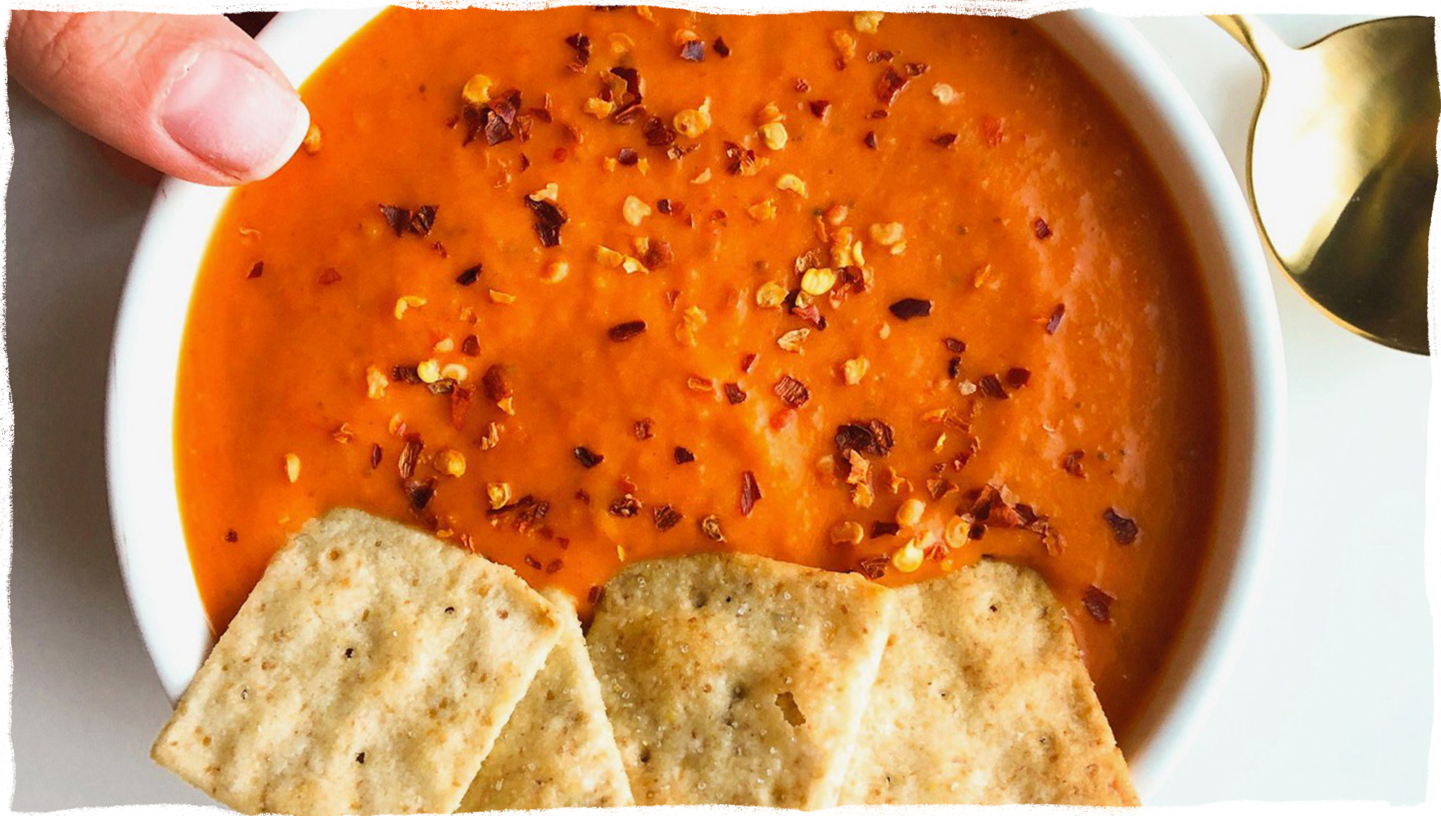 Spicy Red Pepper & Sweet Potato Soup - A fresh look at veggies - Sari D., Eat Well With Sari