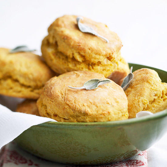 6. Biscuits - Make a holiday dinner spread staple more seasonal with the help of the color and flavor that comes from sweet potatoes. These can be made more savory and served warm with butter.VIEW RECIPEPhoto: Better Homes & Gardens