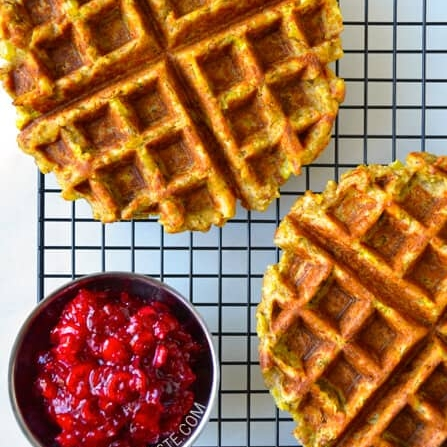 3. Leftover Stuffing Waffles - Who knew this was a thing? Apparently it is and it's quite good.VIEW RECIPEPhoto: Just a Taste