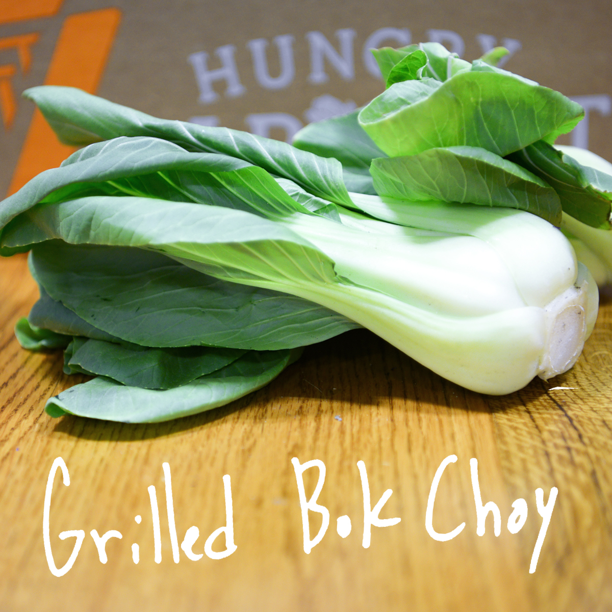 Who says it's too cold to grill? We love this different take on how to cook bok choy. - Find the recipe at: Dishing Up The Dirt
