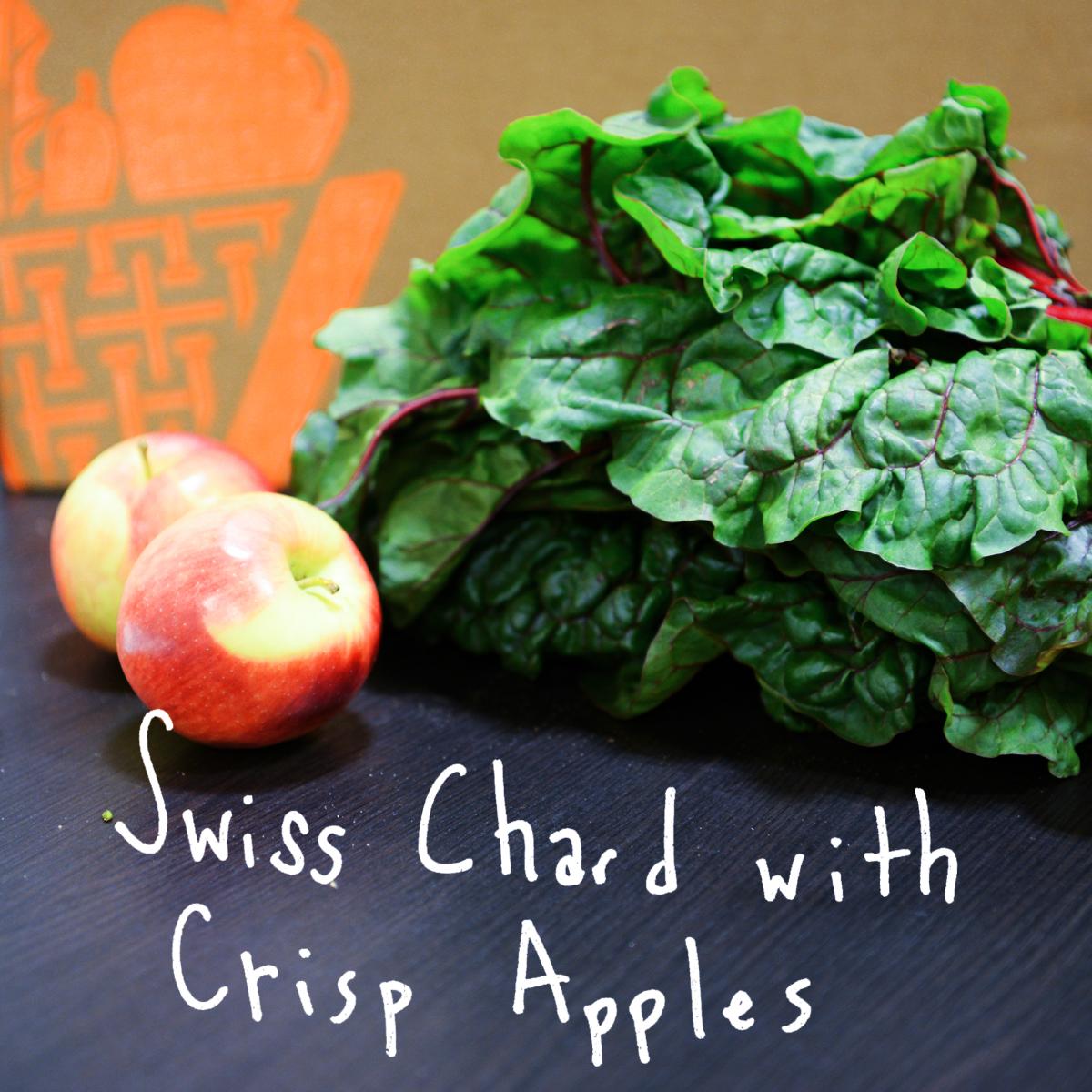 Apple & plumped raisins help sweeten the bitterness of Swiss chard. - Find the recipe at: Fat Free Vegan