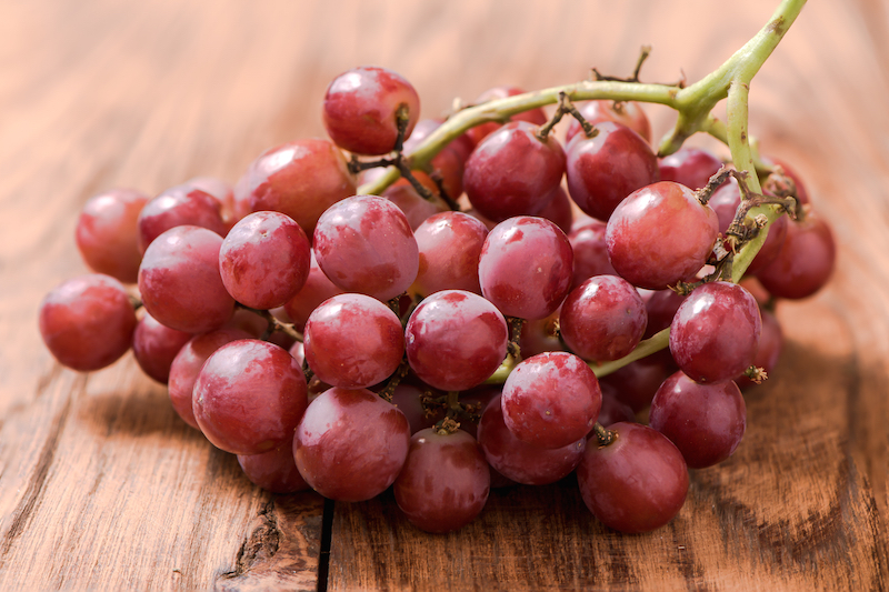 Grapes - Frozen grapes are the perfect summer snack, and make great substitutions for ice cubes in drinks. To freeze, after washing and drying them, spread them out evenly on a baking sheet then store them in your preferred container after about 3 - 4 hours.