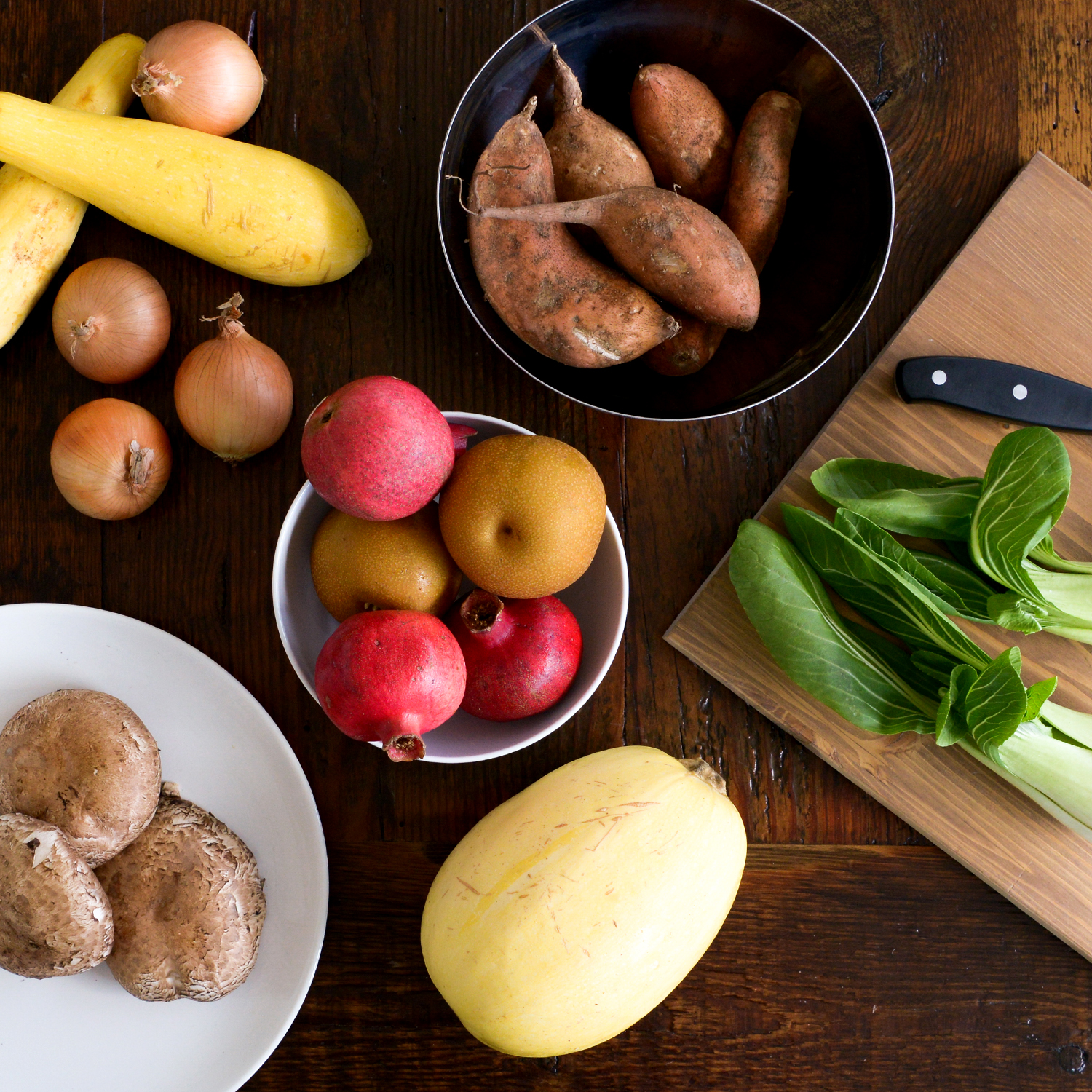 Let the produce inspire your meals. -