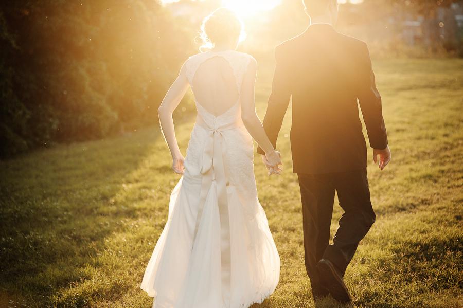 Bride & Groom Sunflare
