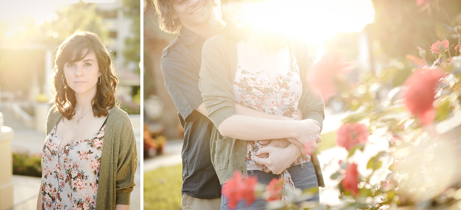 Romantic Couples Photography | Engagement | Sunglow