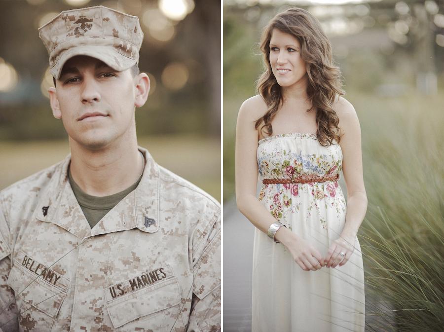 Marine & Fiance   Lakeland Engagement Photography   Natural Light