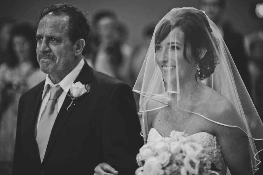 dad walks daughter down the aisle