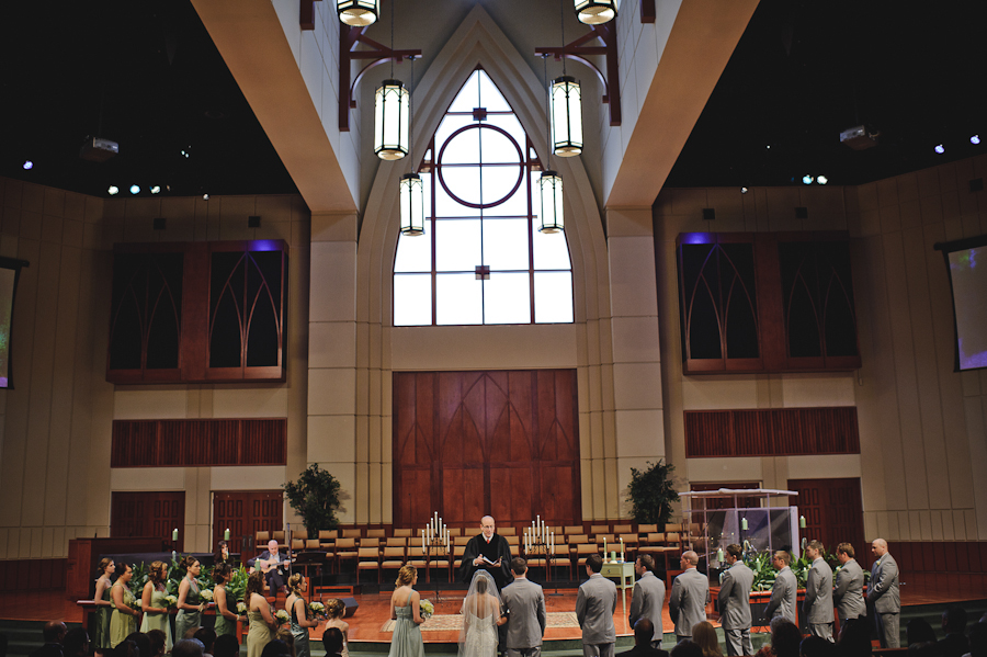 Large Wedding Party at Seven Rivers Presbyterian Church | Lacanto FL Wedding Photography