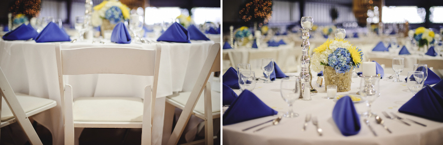 white chairs at wedding reception