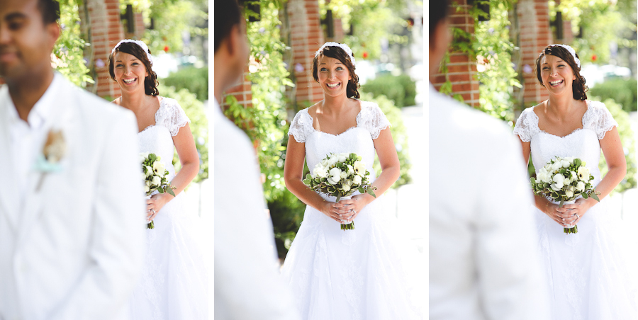 amazing first look reaction at wedding, sunglow photography