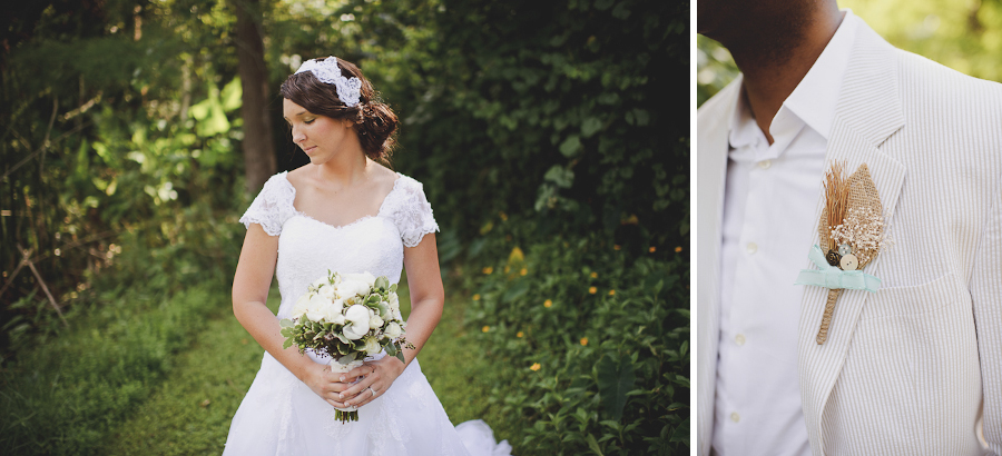 sunglow photography, bridal bouquet and groom boutonniere DIY