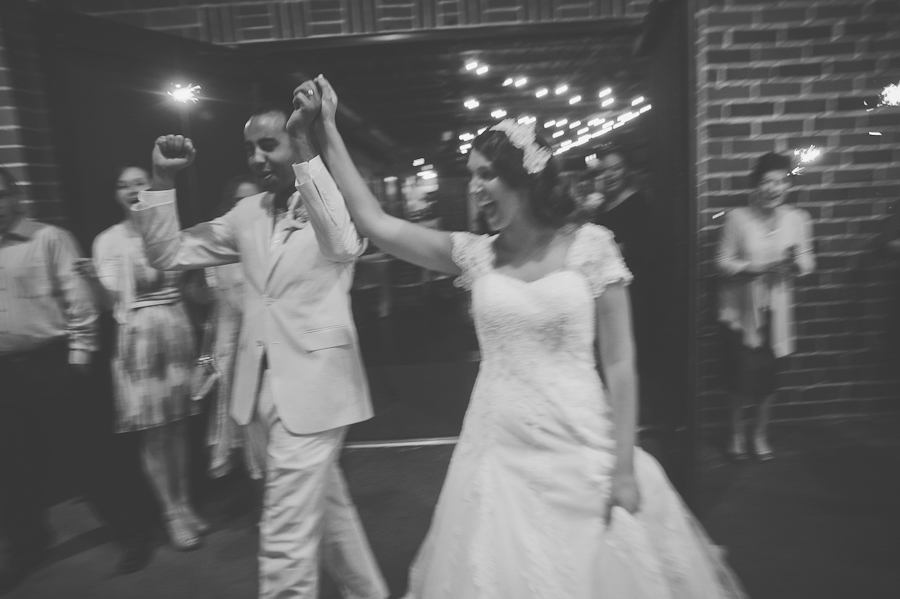winter park wedding sparkler exit at the farmers market