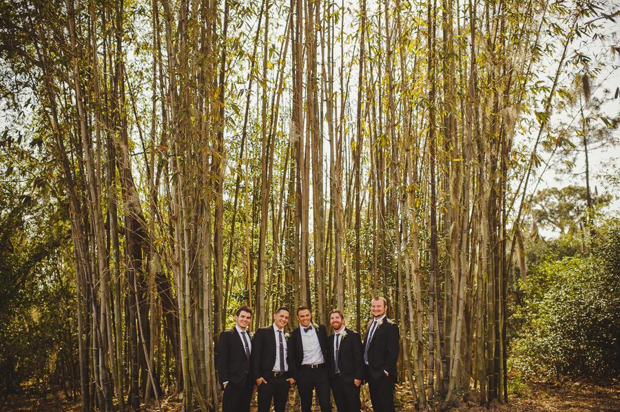 groomsmen, bamboo