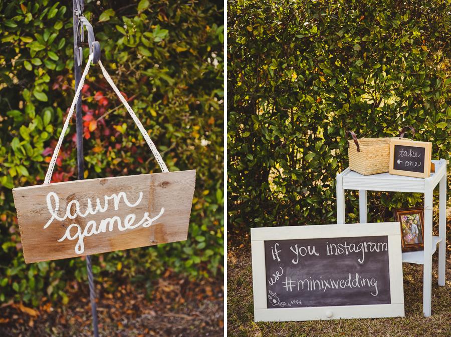 pinetrest wedding signs