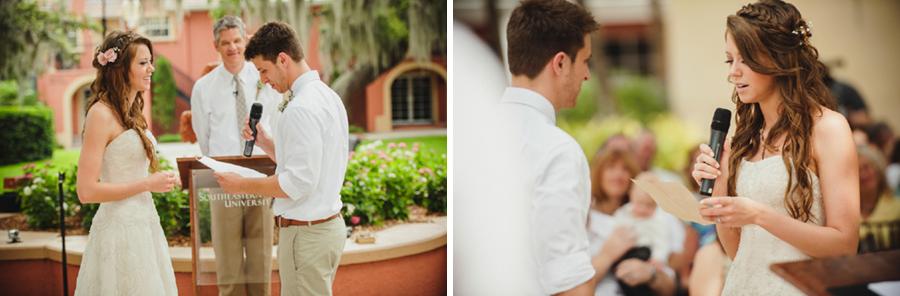 outdoor florida wedding