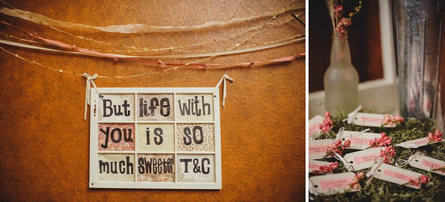 diy vintage wedding details