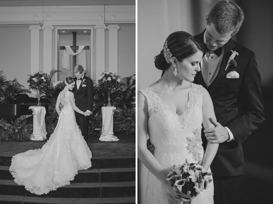 blake and white wedding photography