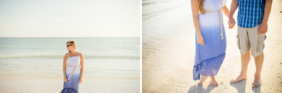 honeymoon island beach engagement photo