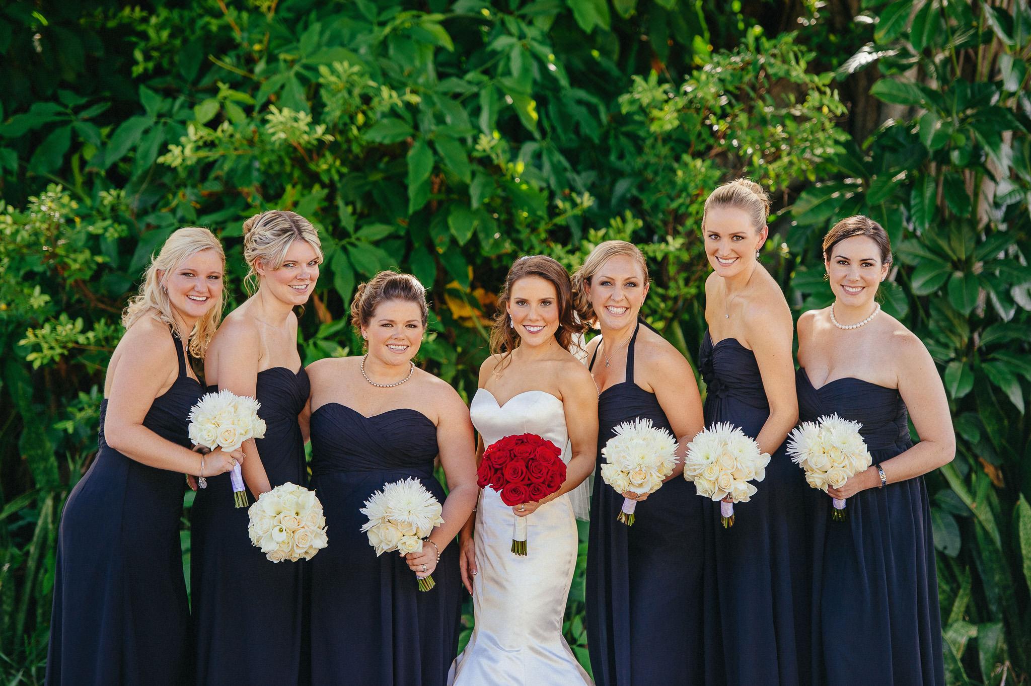 Long Black Bridesmaids Dresses