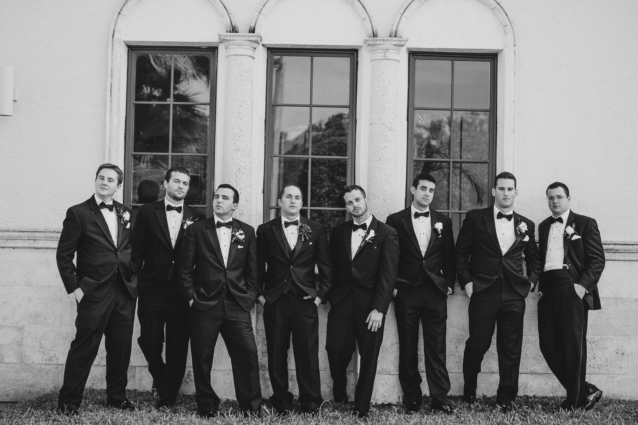 Full Tux Groomsmen Wedding Party
