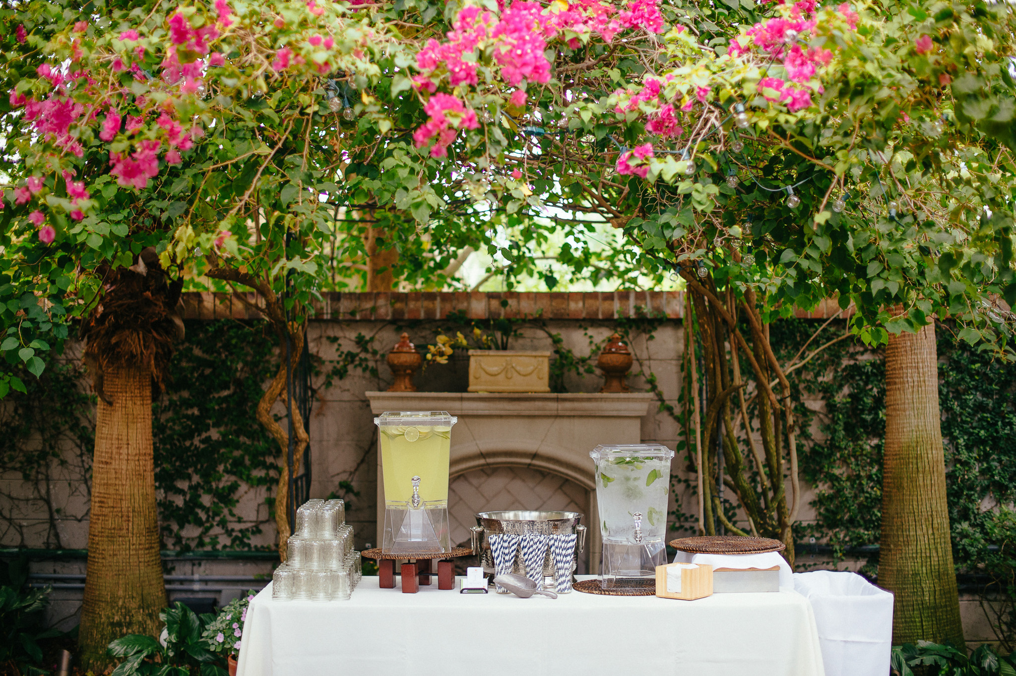 Drink Bar at Backyard Wedding