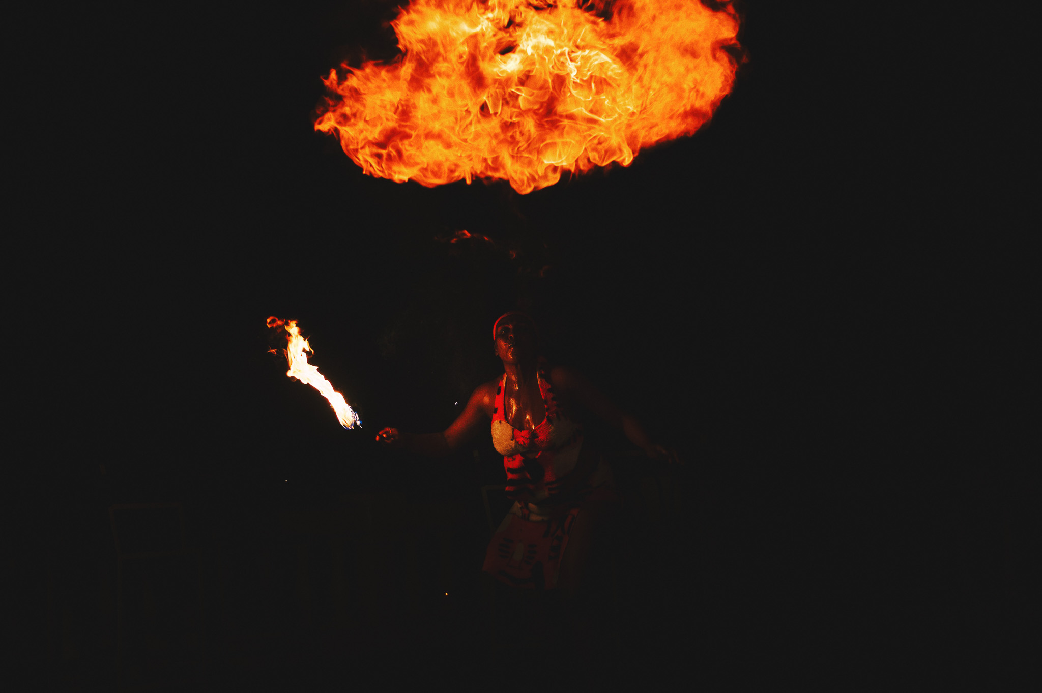 wedding fire dancer