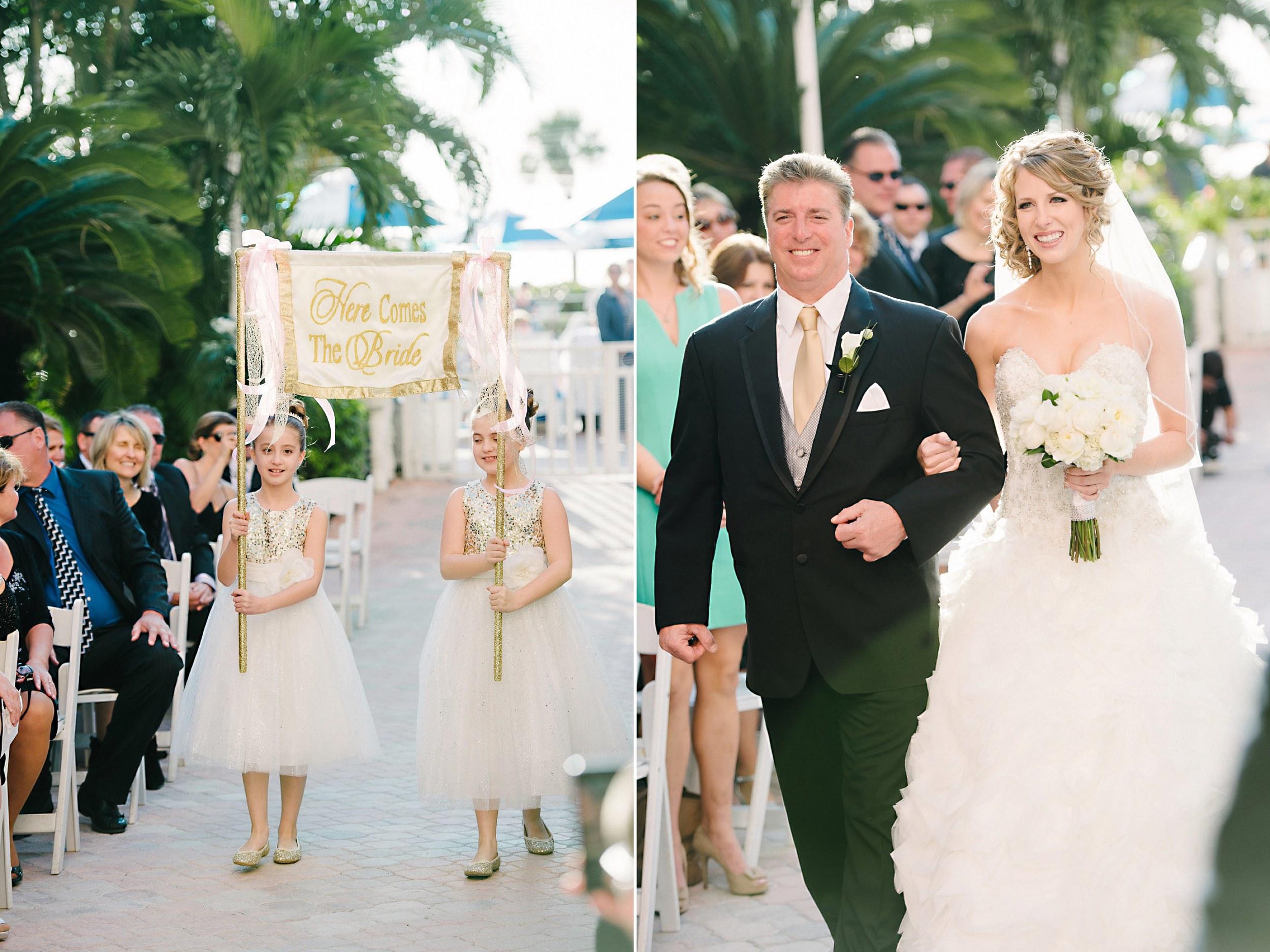 Cute Flower Girls Announcing Bride