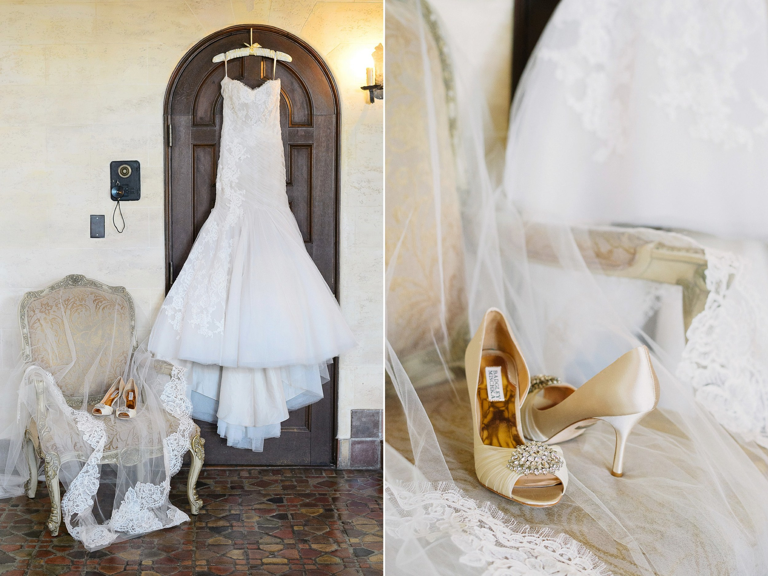 Badgley Mischka Shoes and Monique Lhuillier Dress