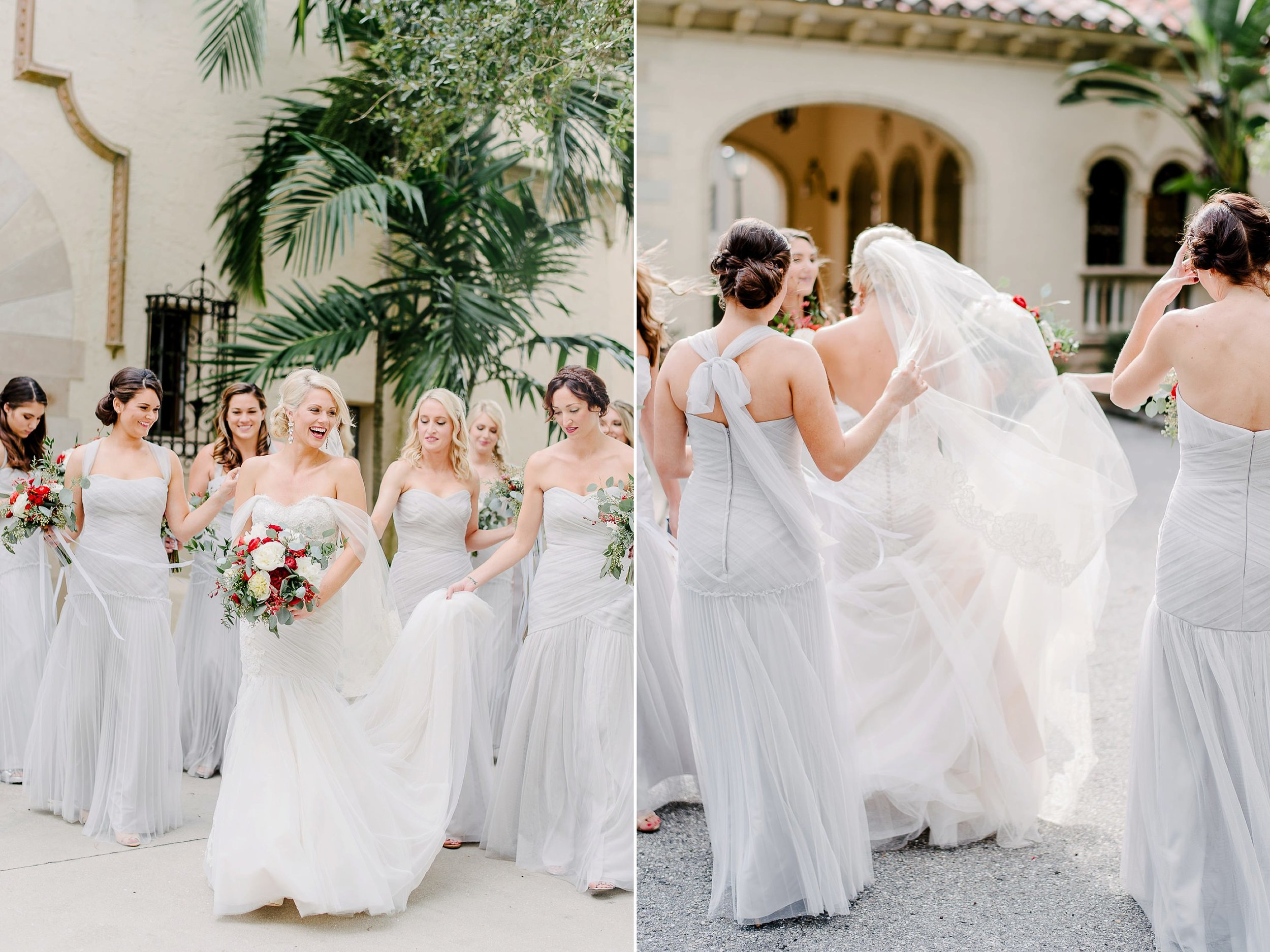 Vera Wang Grey Bridesmaids Dressed