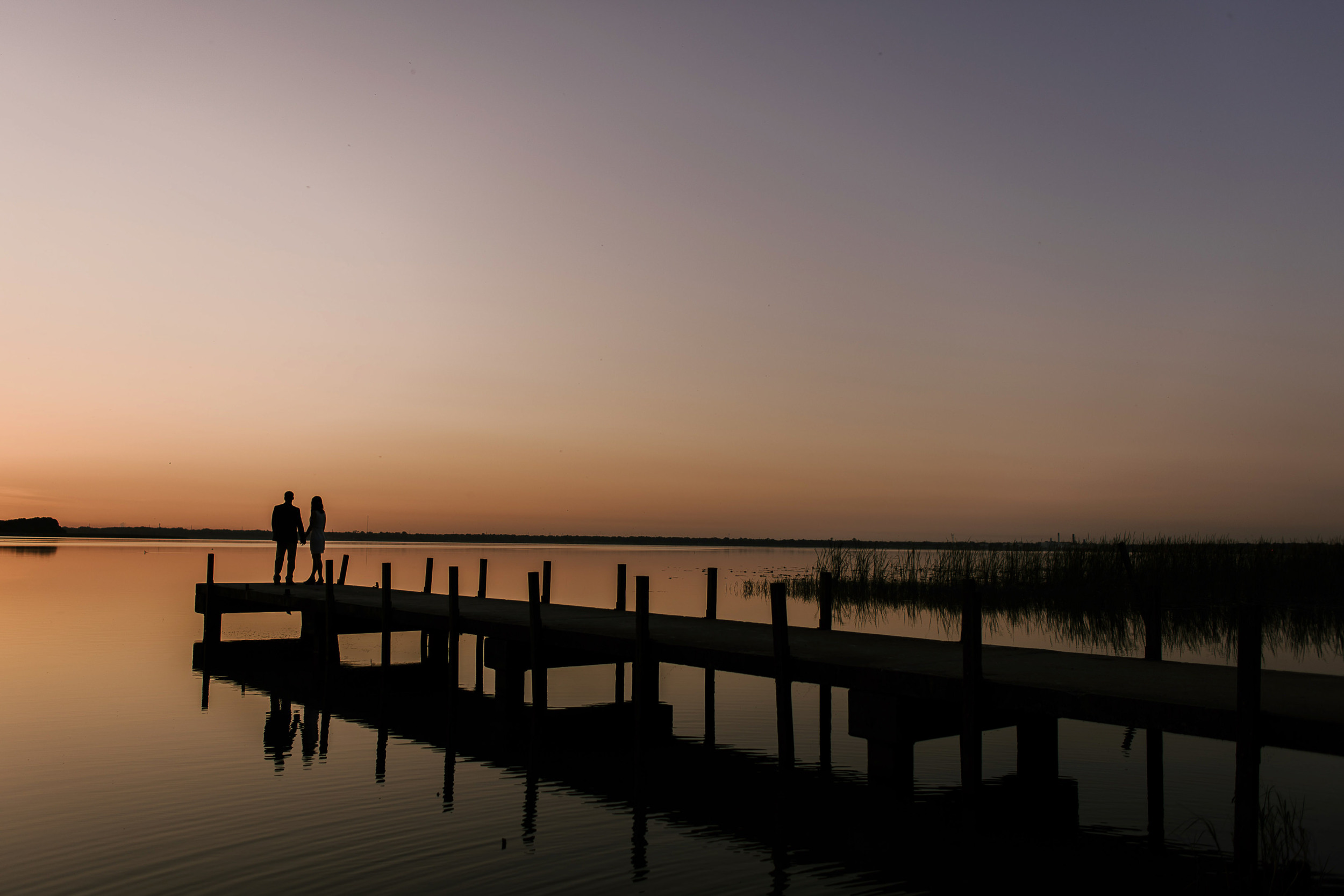 Lakeside Sunrise Engagement Session
