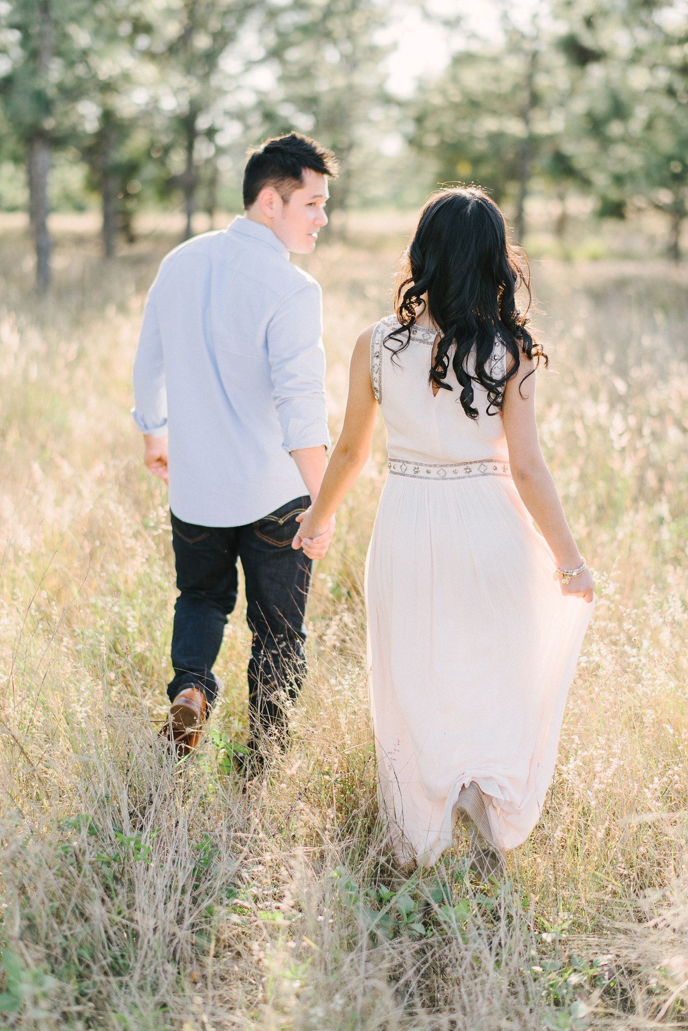 Bright Airy Field Engagement Session